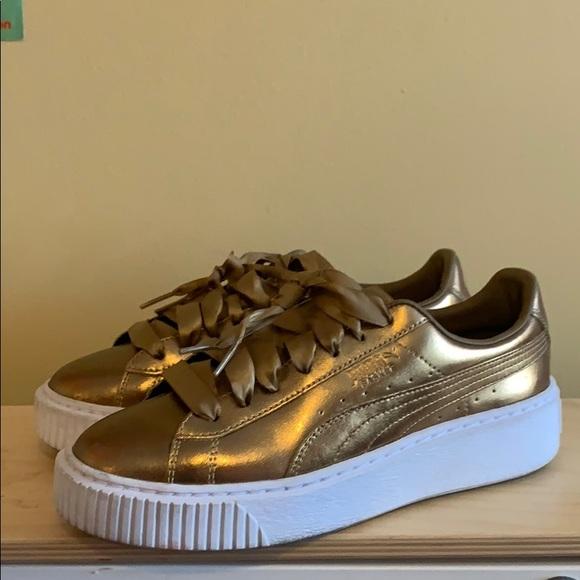 Puma Shoes   Puma Basket Platform Luxe